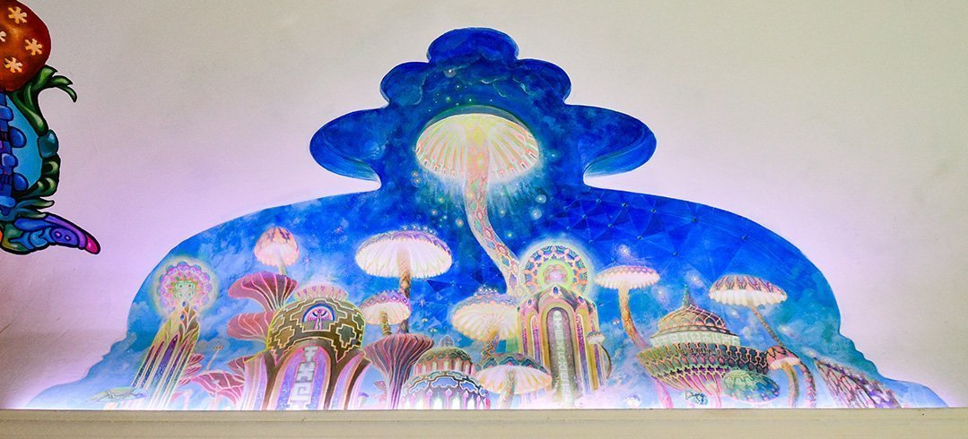 Mushroom Cafe mural by Jonathan Solter